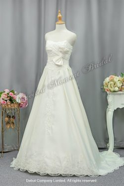 Strapless A-line Wedding Gown 心形胸蝴蝶結A-line婚紗