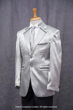 閃銀領呔, 亮銀西裝款新郎禮服 Silver suit with silver tie