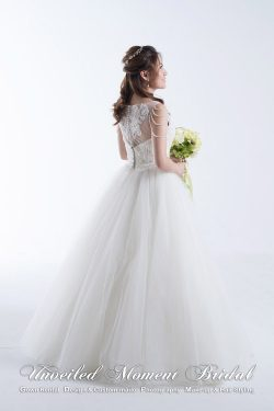 Pearl Tassel Ball Wedding Gown 珍珠流蘇公主傘裙婚紗