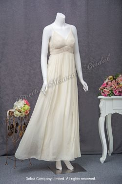 White Party Dress for Maid-of-honour 白色吊帶晩宴伴娘裙
