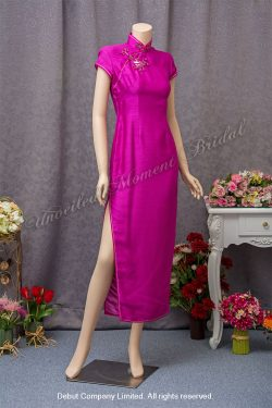 Violet Mother-of-the-Bride QiPao 紫色媽咪旗袍