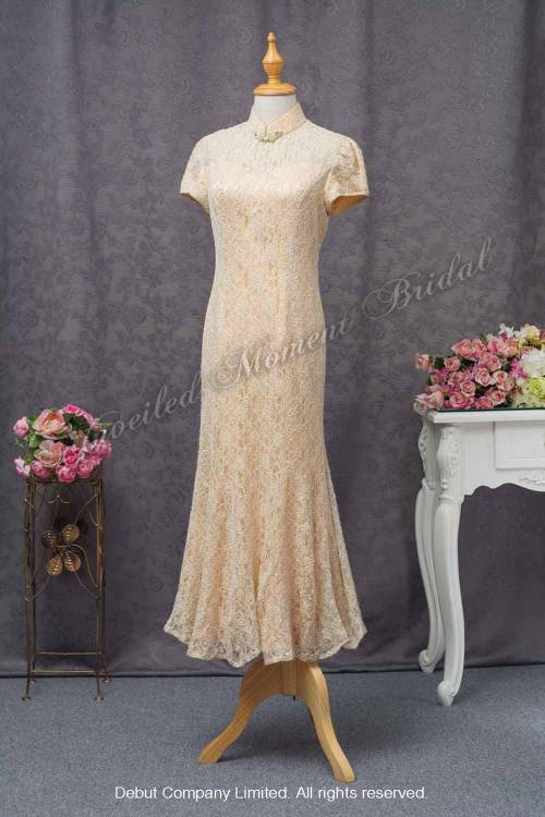 Golden Mother-of-the-Bride QiPao 金色媽咪旗袍